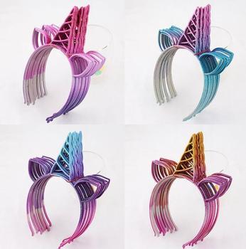 Glitter Rainbow Unicorn Headband hairband Theme Birthday Party Favor Gift Baby Shower Halloween XMAS Fancy Dress Photo Props