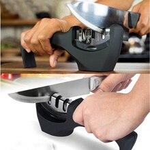 3 Etapas (Diamante y acero De Tungsteno y Cerámica) Cuchillo de Cocina Afilador Piedra de Afilar Afilador de Cuchillos de cocina Del Hogar