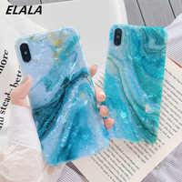 Glitter Marble Case For iPhone XR Case Dream Lemon Pattern Silicon IMD Cover For iPhone 6S 6 7 8Plus iPhone XR X XsMax Case Capa