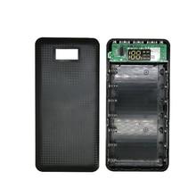 купить 7*18650 Power Bank Case 5V Mobile Power Pack Battery Box Mobile Phone Charger DIY Shell Case 3 USB Output LCD Display For Xiaomi по цене 442.89 рублей