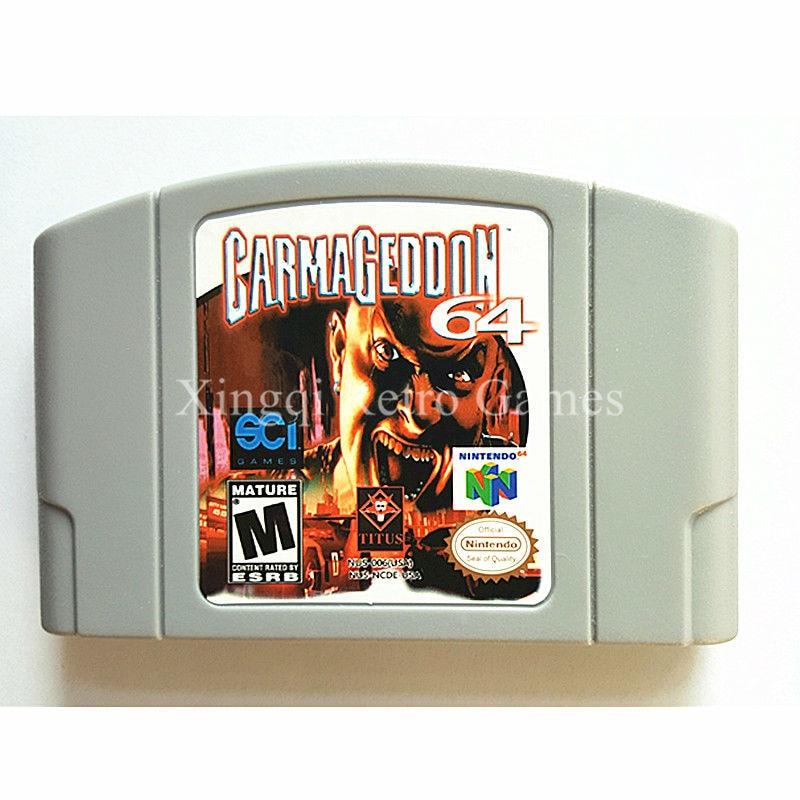 Nintendo N64 Game Carmageddon 64 Video Game Cartridge Console Card English Language US Version