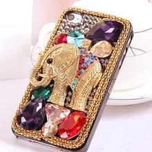 Cool Retro 3D Elephant Bling Capa Cases for iPhone SE 2020 XS Max XS XR X 8 7 7 Plus 6 6s 6 Plus 5s 5 Crystal Diamond Fundas