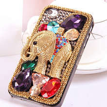 Coole Retro 3D Elefanten Bling Capa Cases für iPhone SE 2020 XS Max XS XR X 8 7 7 Plus 6 6s 6 Plus 5s 5 Kristall Diamant Fundas