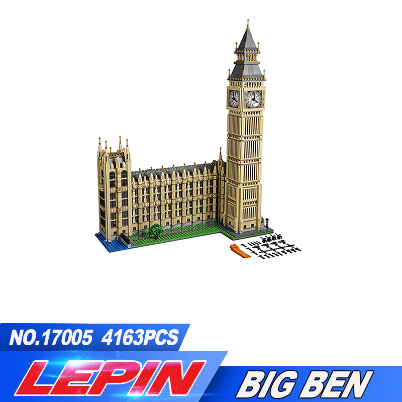 2017 New LEPIN 4163pcs 17005 Big Ben Elizabeth Tower Model Building Kits Block Brick Toy Gift Compatible 10253 legoed new lepin 22001 pirate ship imperial warships model building kits block briks toys gift 1717pcs