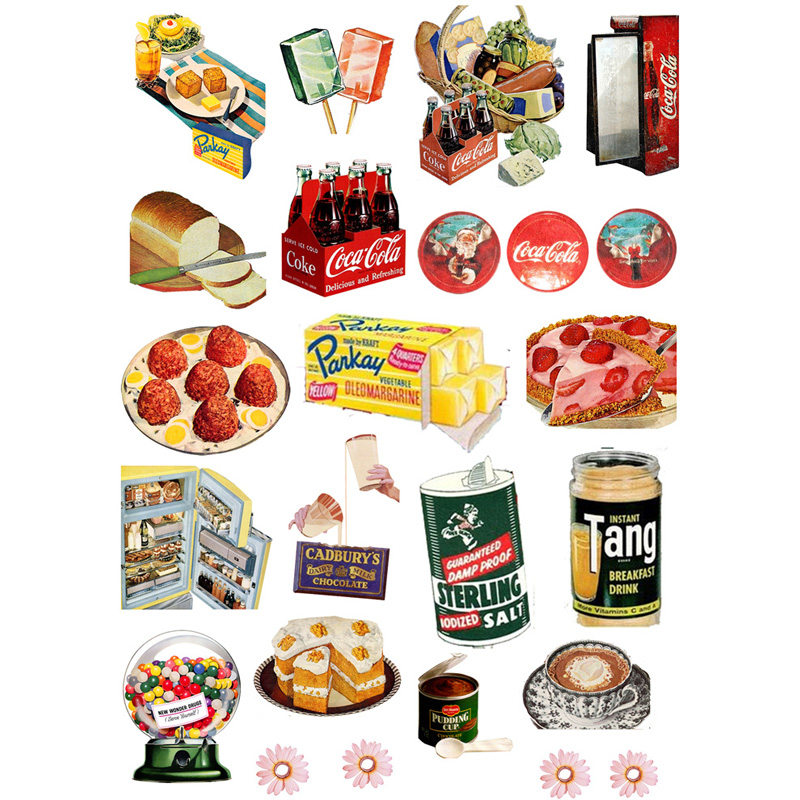 2 Pcs/lot Fast Food Cola Mohamm Planner Diary Sticker Pack Post It Notebook Agenda Bullet Journal Stickers Scrapbooking