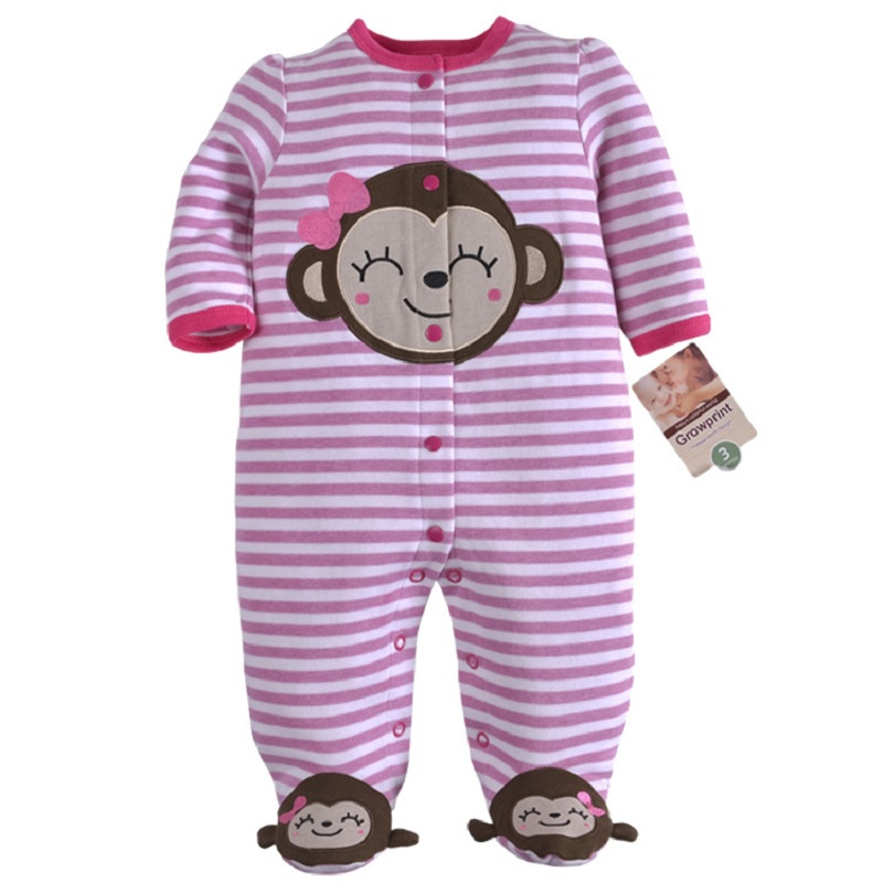 New Arrival Baby clothes baby boy girls footed romper baby rompers 100 cotton sleep play clothes baby pajamas newborn in Footies from Mother Kids