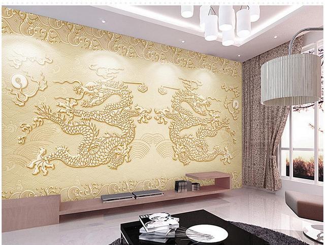 US $15.3 49% OFF|Bad 3d wallpaper Drachen relief hintergrund wall  benutzerdefinierte fototapete wohnzimmer 3d wallpaper in Bad 3d wallpaper  Drachen ...