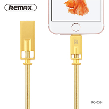 Remax spring Steel wire of Zinc Alloy USB Cable Mobile Phone 2.1A Fast Charging Data sync Cable For iphone 5s 6 6S 7 7s 8 8 Plus