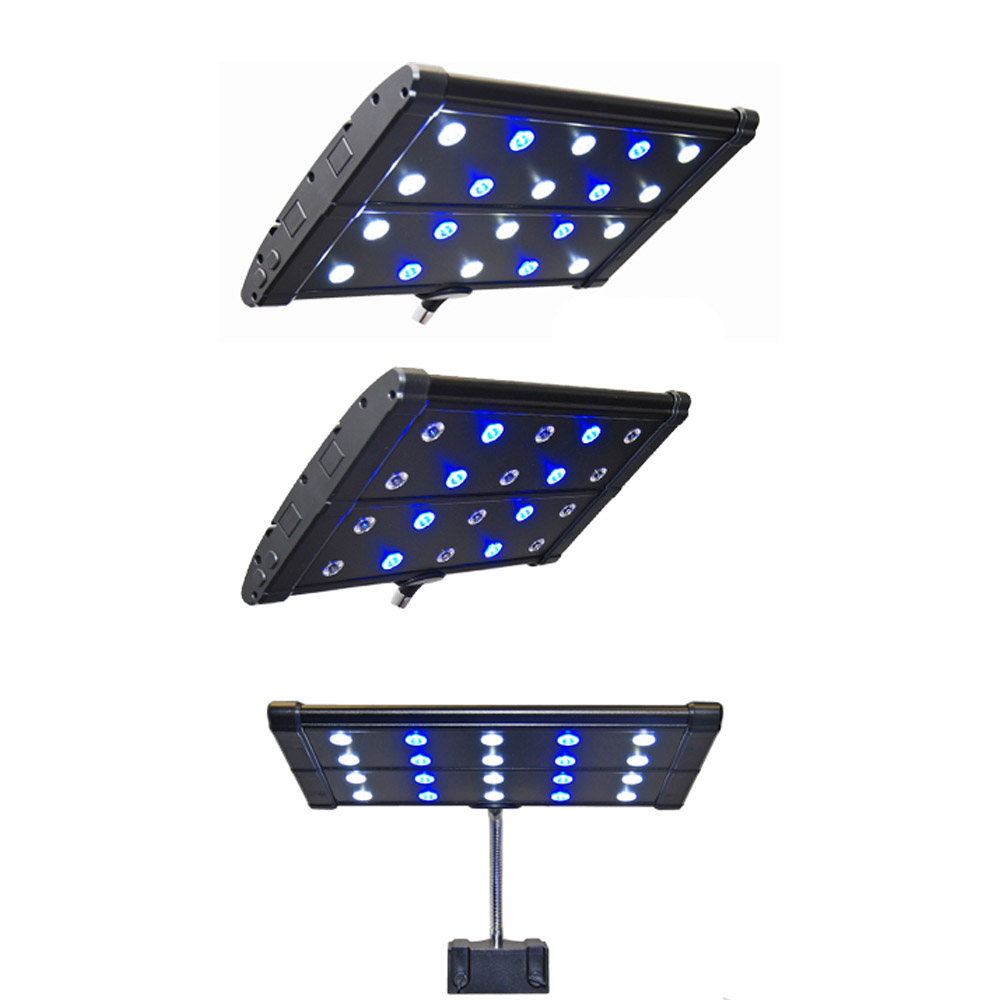 Nano led aquarium fish tank lighting - 18 24 45cm 60cm Mhx Clip On Saltwater Coral Reef Cichlid Plant Aquarium Aquatic Pet Fish Tank Led Light Lamp Lighting Fixture