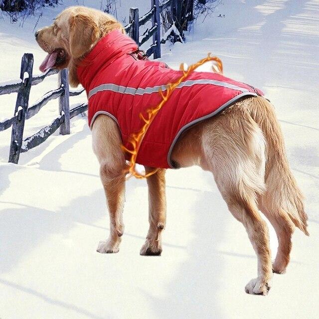 Giacca cane Cani di taglia Grande Tute e Salopette Impermeabile Riflettente Cald