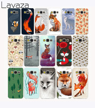 Lavaza 1417CA lovely Animal Fox Tea Hard Case Cover for Samsung Galaxy S6 S7 S8 edge Plus S2 S3 S4 S5 Mini case cover