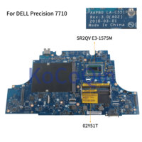 KoCoQin Laptop motherboard For DELL Precision 7710 SR2QV E3-1575M Mainboard AAPB0 LA-C551P CN-02Y51T 02Y51T  full tested