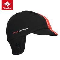 Santic Fashion Cycling Cap Men Women Gorra Ciclismo Thermal Windproof Earflaps Cycling Hat Autumn Winter Casquillo
