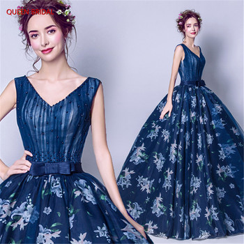 Ball Gown Evening Dresses Women Dress Robe De Soiree Long Luxury Evening Gown 2020 New Fashion Floor Length Formal Dress DR18