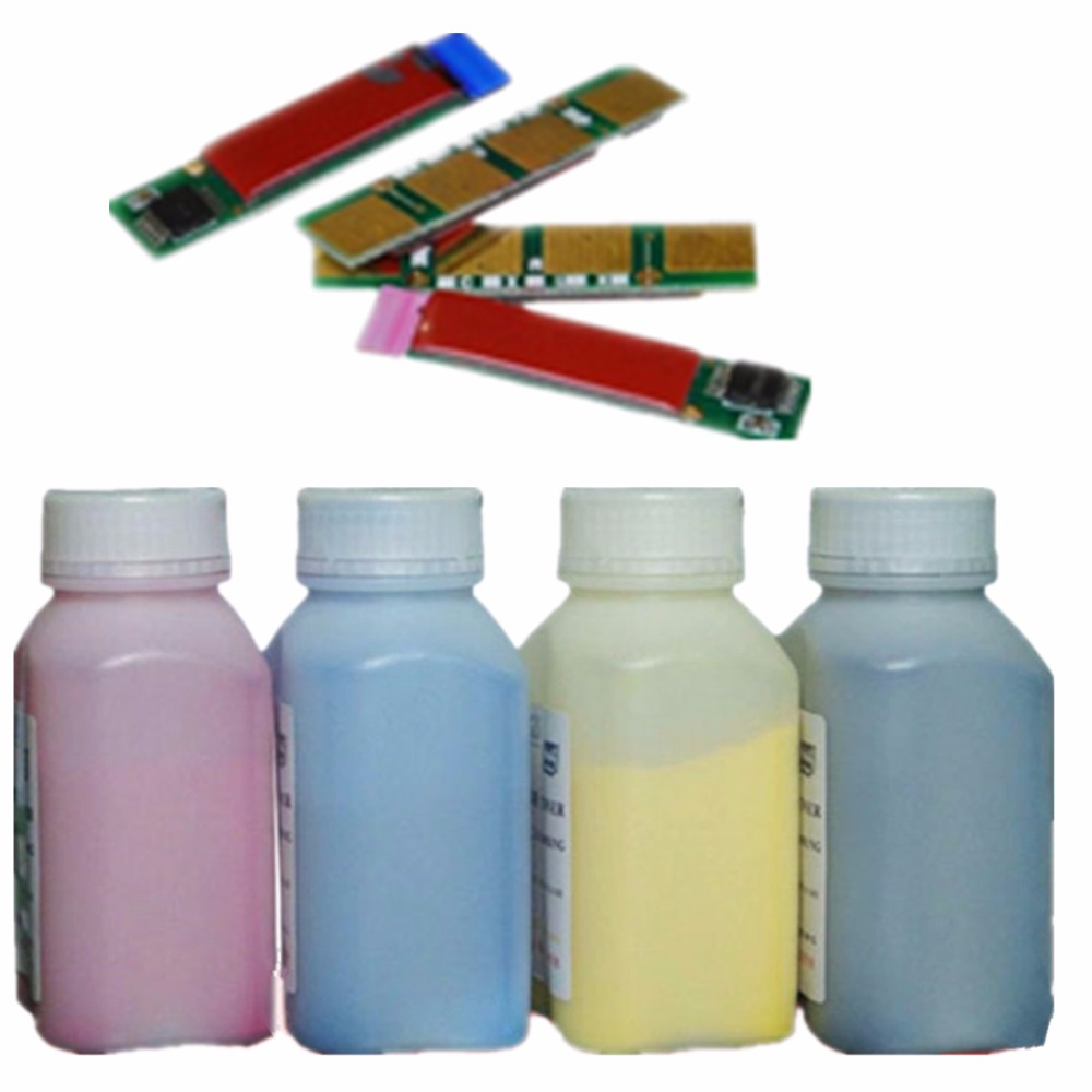 4 x toner refill-tonerkassetten pulver kits + chips für samsung clp 360...