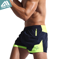 2016 New Fast Dry Surfing Fashion Men S Board Shorts With Inside Mesh Underwear Patchwork Beach