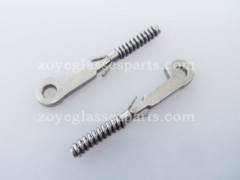 1.0mm stainless steel spring insert for eyewear TX-003, eyeglass springs insert for repairing TX-003 image