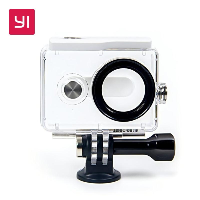 YI Waterproof Case White for YI 1080p font b Action b font font b Camera b