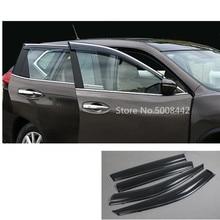 цена на For Nissan X-Trail Xtrail T32/Rogue 2017 2018 2019 2020 Car Stick Styling Plastic Window Glass Wind Visor Rain/Sun Guard Vent