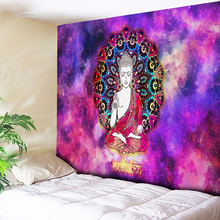 Retro Lord Buddha Mandala Chakra Tapestry Wall Hanging Hippie Decorative Tapesties Psychedelic Galaxy Cloth Carpet Yoga Rug