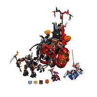 10489 Nexo Knights Jestro's Evil Mobile Compatible with Lego 70316 Block Set Building Brick Toy For Kids