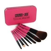 Cosmetic Make Up Brush Set With Box Professional Goat Hair Makeup Brush Set Tools 7Pcs