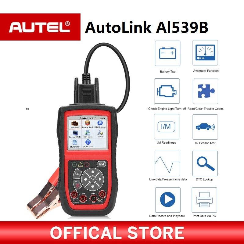 autel autolink al539b obd2 scanner automotive electrical test tool for odb2 diagnostic tool eobd. Black Bedroom Furniture Sets. Home Design Ideas