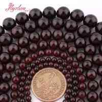 2-10mm Runde Rote Granat Spacer Lose Perlen Kralen Perles Natürliche Steine Für Schmuck Machen Strang 15 freies Verschiffen