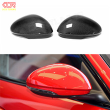 For Alfa Romeo Giulia Carbon Fiber Rear View Mirror Cover Side Mirror Caps Black Finish 2016 – UP