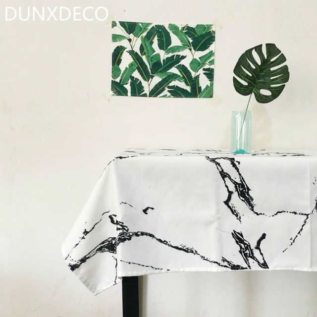 DUNXDECO Nappe Moderne Couverture De Table Tissu Chic Style ...