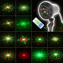 Christmas Lights Star Projector Laser Shower Motion Outdoor Garden Lighting 24 Patterns Red Green With RF Remote Waterproof christmas garden laser lights moving rgb stars 20 patterns projector showers outdoor waterproof ip65 rf remote for xmas holiday