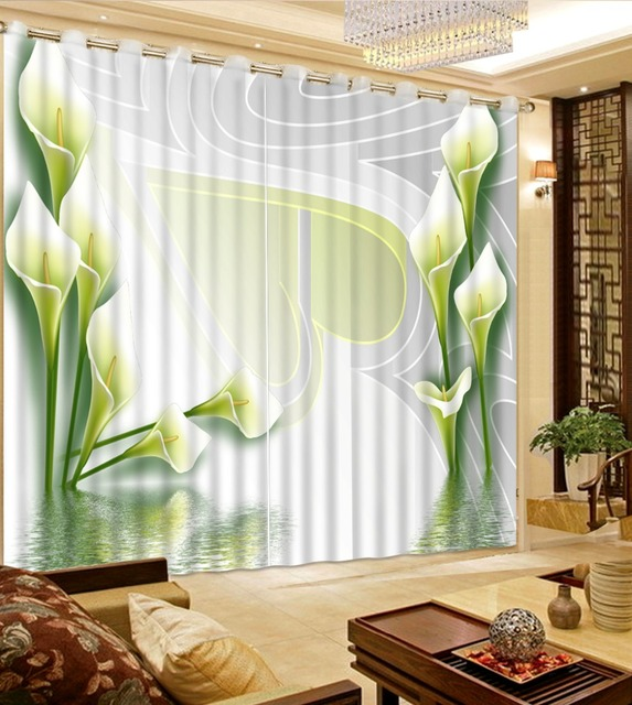 Attrayant Custom Kitchen Curtains Modern Brief Flowers Window Curtain 3D Bedroom  Curtain Kids Room Curtains