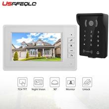 """USAEQLO безопасность """" цветной монитор безопасности дверной звонок для дома семьи двери контроля доступа видео домофон дверные наборы для телефона"""