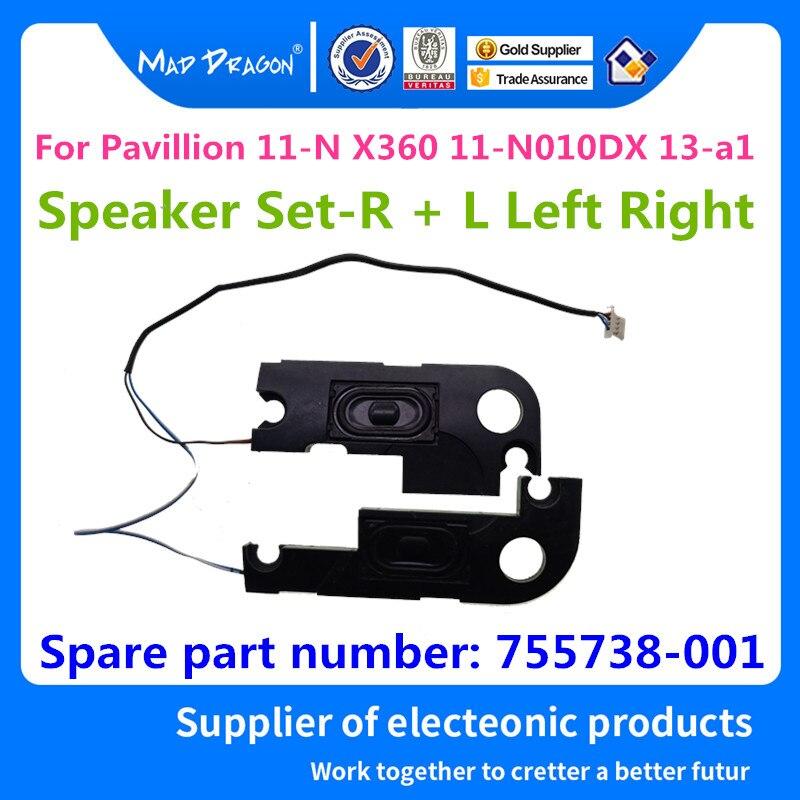 MAD DRAGON Brand Laptop New Speaker Set R + L Left Right for HP Pavillion 11 N X360 11 N010DX 13 a1 755738 001 PK23000OB00 Sound Cards     - title=