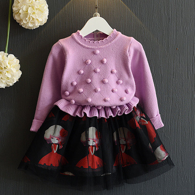 Knitted Little Girs Dresses