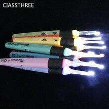 2.5MM 6.5MM Led ışık Up tığ kanca örme İğneler örgü dikiş aksesuarları 9 renkler mevcut dikiş iğneleri