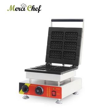 ITOP 1500W Waffle Maker Machine 6 Square Egg Bubble Cake Waffle Oven Kitchen Baking Waffle Breakfast Machine 110V/220V