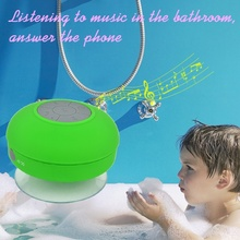 AP Portable Mini Subwoofer Shower Waterproof Wireless Bluetooth Speaker Car Handsfree Receive Call Music with Suction
