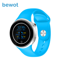 Bewot Bluetooth Smart Watch Smartwatch Sports Wristwatch 1.22″ Round Display GSM WristWatch Heart Rate Monitor for iOS & Android
