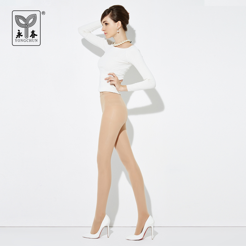 YONGCHUN 3 pairs Stockings spring and autumn female pantyhose velvet 80d unifilar basic pantyhose
