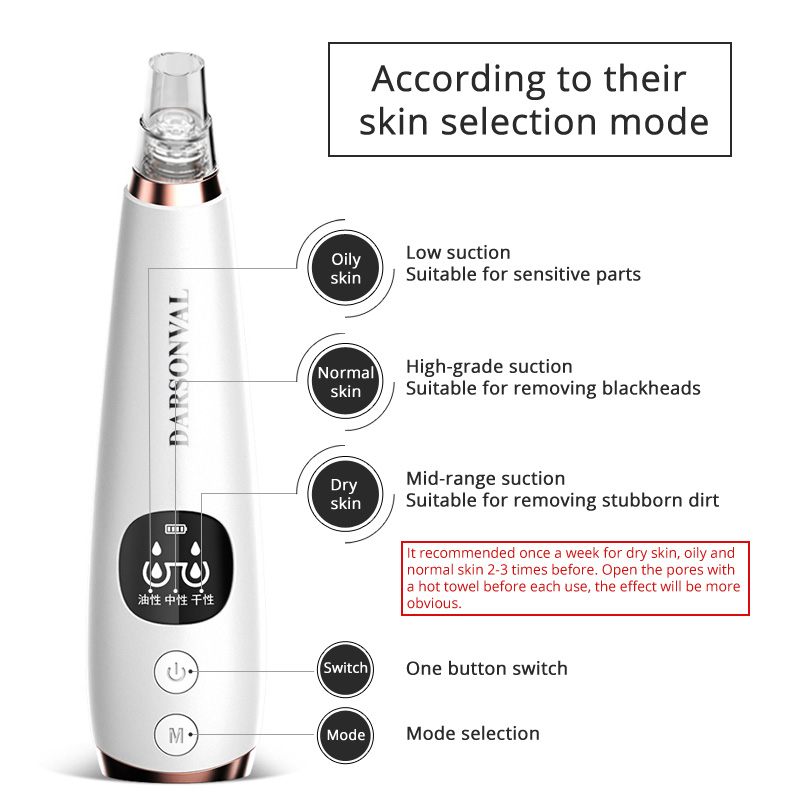 Image 4 - DARSONVAL blackhead remover tools for acne pore cleaner face care blackhead vacuum cleaner black dots pimple remover tool beauty-in Face Skin Care Tools from Beauty & Health