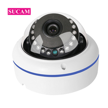 цена на FULL HD Mini 2MP Dome CCTV IP Camera Vandalproof 180 Degree 360 Degree Fish Eye Home Security ONVIF IP POE Cameras P2P 20M IR