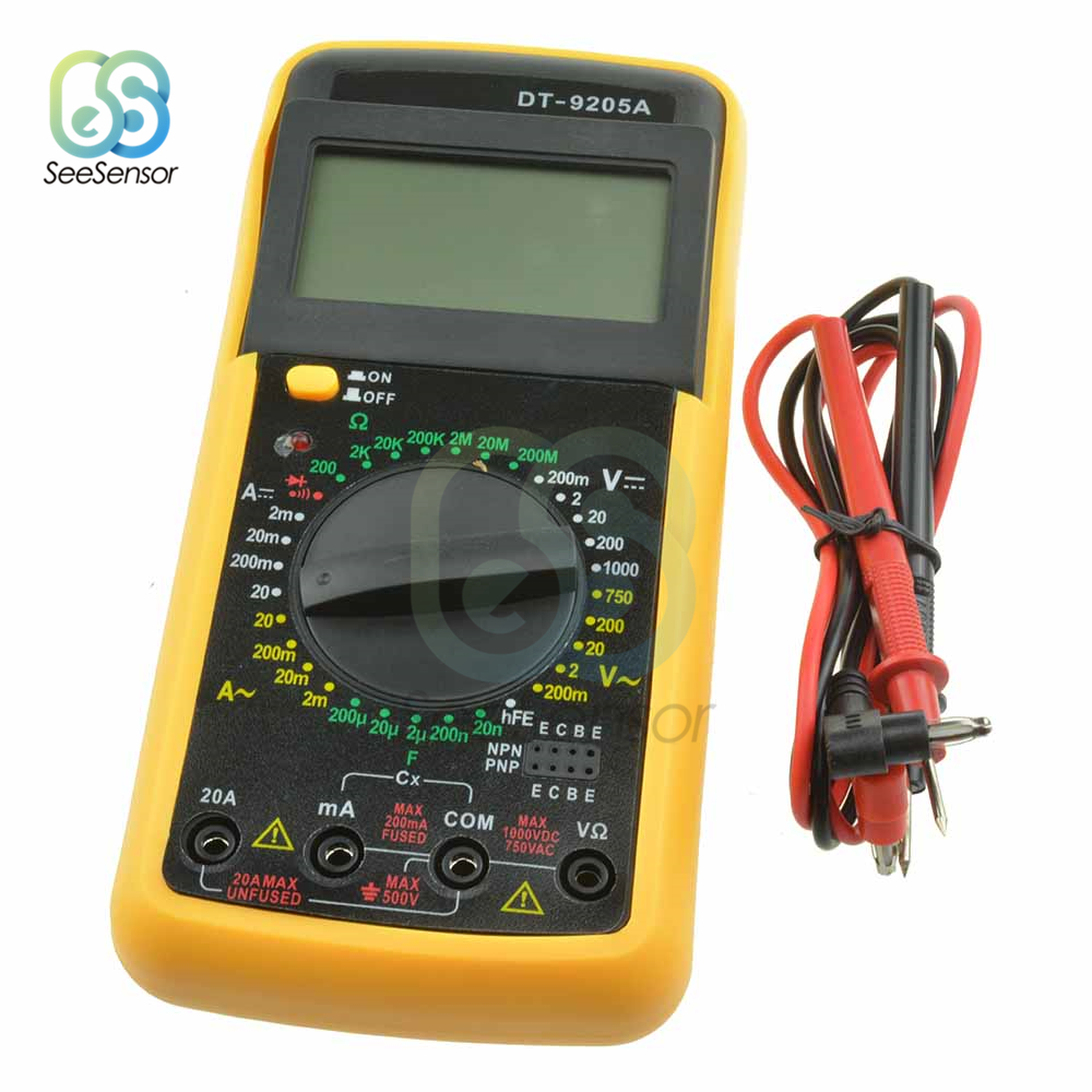 Image 4 - DT9205A Professional LCD Digital Multimeter Electric Handheld Ammeter Voltmeter Resistance Capacitance Tester AC DC-in Multimeters from Tools