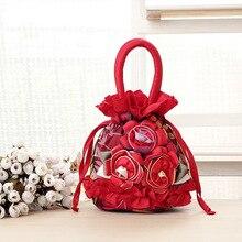 2016 neue mode handmade nylon blume tasche frauen handtaschen für mama mini einkaufstasche abend-handtasche
