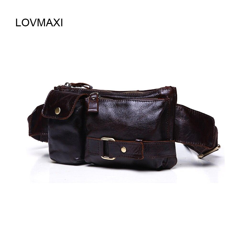 959240e75 Cuero de la vendimia de los hombres bolso de la cintura, estilo coreano de  la manera bolsos mensajero masculino pequeñas bolsas Casuales
