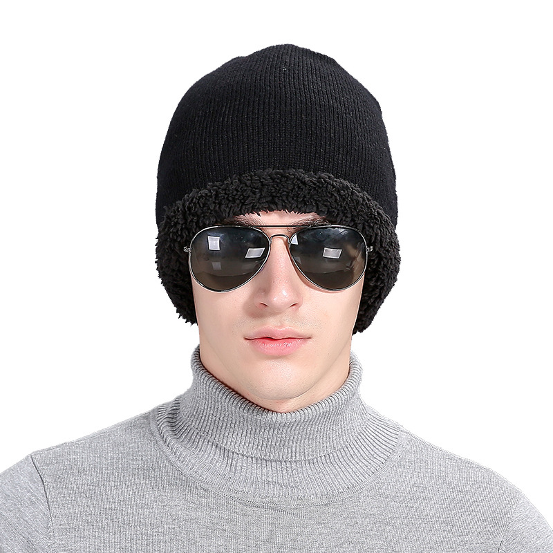 Fashion Deportes Winter Gorras Super Elastic Woolen Hat For Men Beanies  Knitted Caps Plus Velvet Warm Beanies Wool Hats Cap M075 a39991b629c