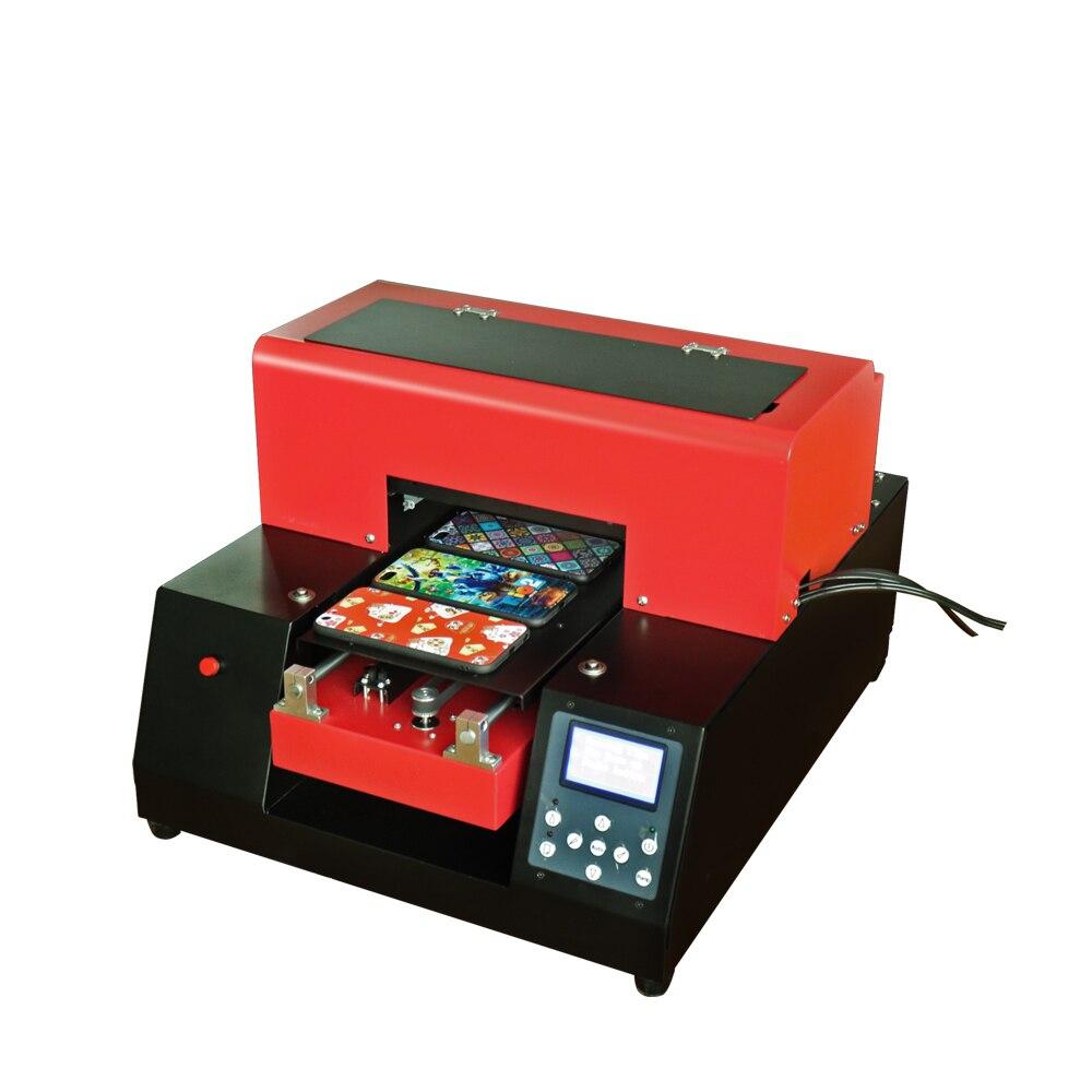 2019 automatique A4 UV imprimante machine pour coque de téléphone TPU en plastique stylo en cuir bois verre PVC carte acrylique conseil