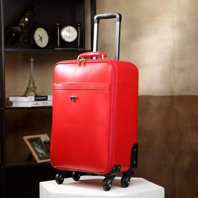 Коммерческой мужской кожа натуральная кожа багаж сумку, пароль коробка, высокое качество 16 20 дюймов подлинной сумки тележки для багажа