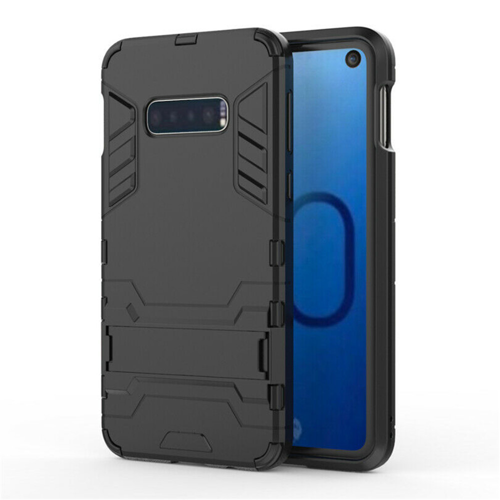 Fashion Cool Armor Dual Phone Case For Samsung Galaxy S10 Plus S10E Note9 PC+TPU Back Cover With Kickstand For S10 S9 S8