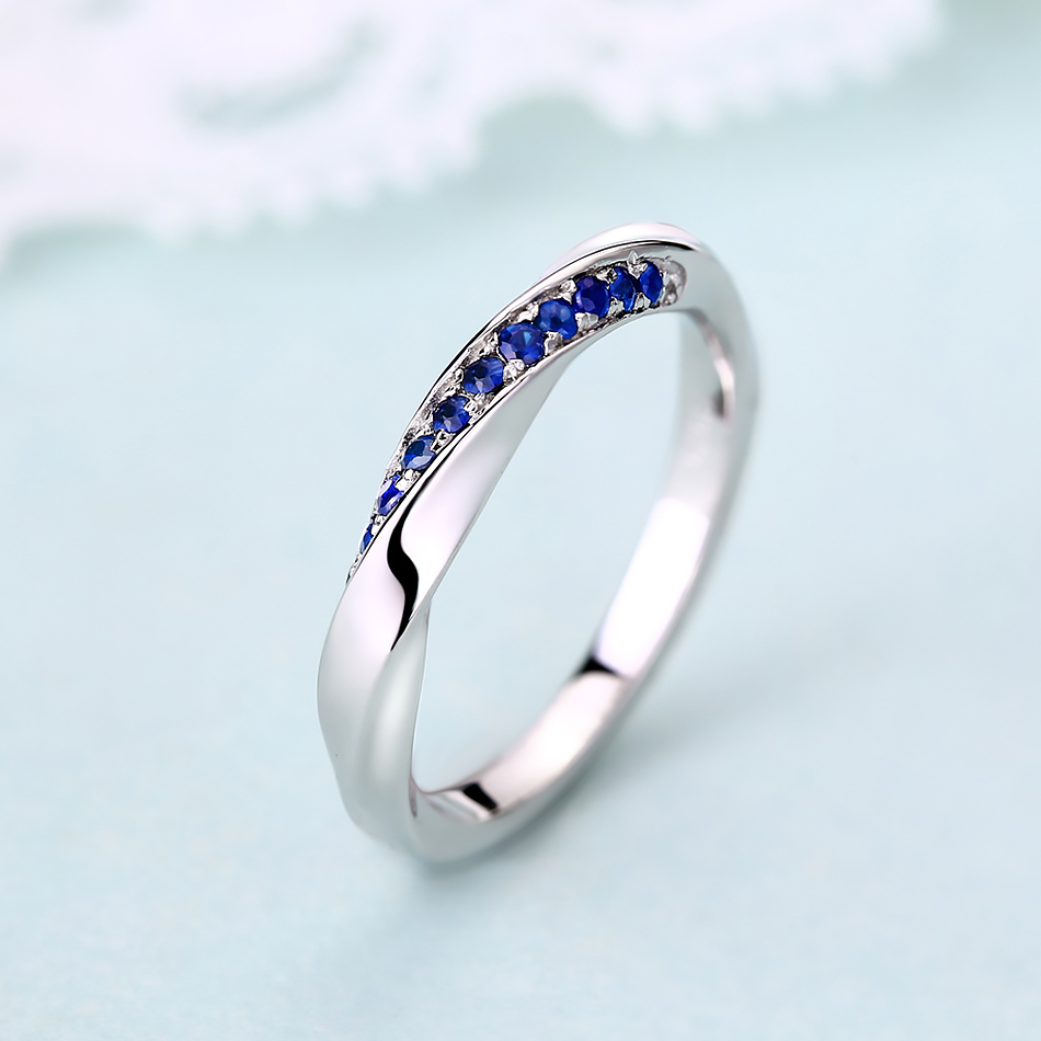 ALLNOEL Genuine 925 Sterling Silver Ring For Women 1.3mm Blue Sapphire Ring Luxury Wedding Engagement Jewelry Rose Gold 3 Colors (13)